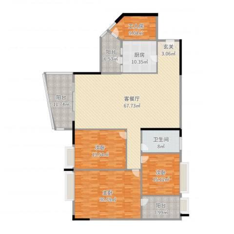 愉景南苑3室2厅1卫1厨234.00㎡户型图
