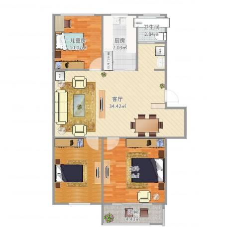 琅琊新村2室1厅1卫1厨109.00㎡户型图
