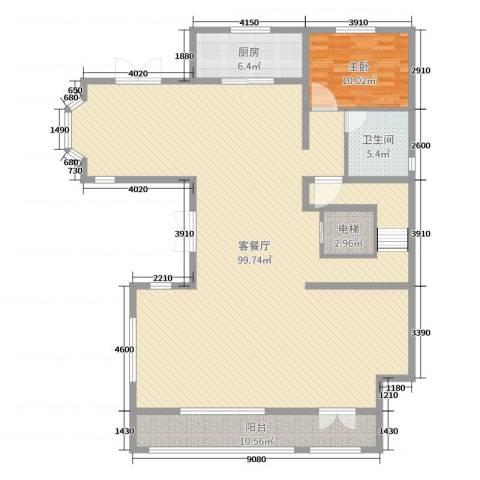 华贸公园郡1室2厅1卫1厨327.00㎡户型图