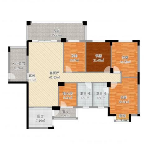金田苑4室2厅2卫1厨180.00㎡户型图