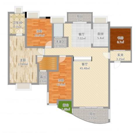怡丰新城4室1厅1卫1厨155.00㎡户型图