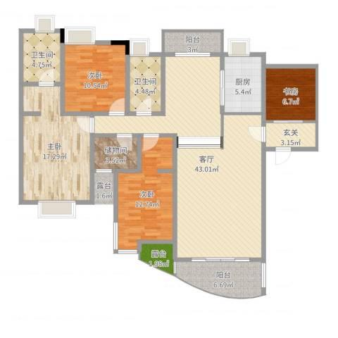 怡丰新城4室1厅2卫1厨154.00㎡户型图