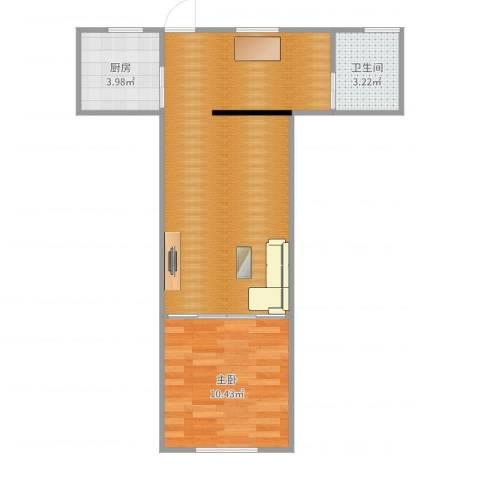泗塘五村1室0厅1卫1厨53.00㎡户型图