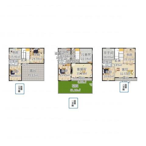花田洋房7室3厅3卫1厨515.00㎡户型图