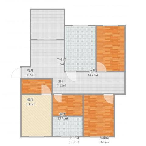 相公吉祥苑3室3厅2卫1厨156.00㎡户型图