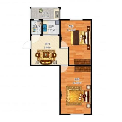 金华里9-42室1厅1卫1厨51.00㎡户型图