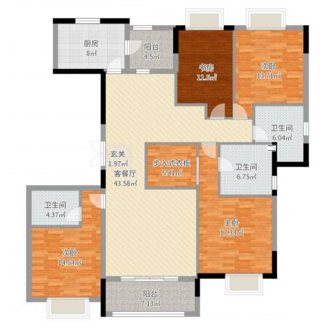 嘉里云荷廷4室2厅3卫1厨179.00㎡户型图