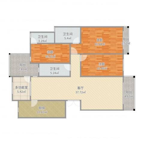 纯水岸花园3室1厅3卫1厨150.00㎡户型图