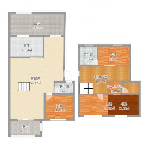 中南山海湾3室2厅2卫1厨215.00㎡户型图