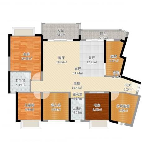 天峦湖4室1厅2卫1厨173.00㎡户型图