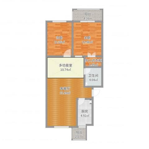 林新公寓2室2厅1卫1厨94.00㎡户型图