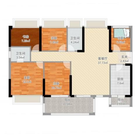 恒裕・世纪广场5室2厅2卫1厨137.00㎡户型图