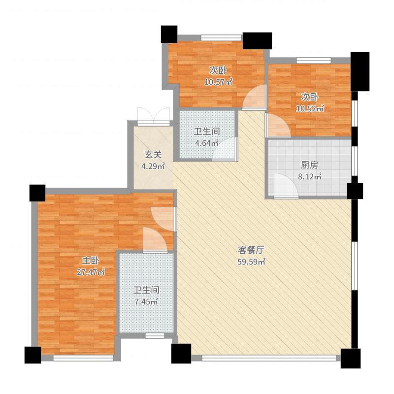 沈阳_积水裕沁听月轩_2017-05-22-1624户型图