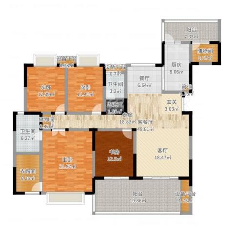 天府欣苑4室2厅2卫1厨207.00㎡户型图