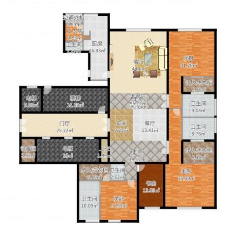 万达公馆4室2厅5卫1厨428.00㎡户型图