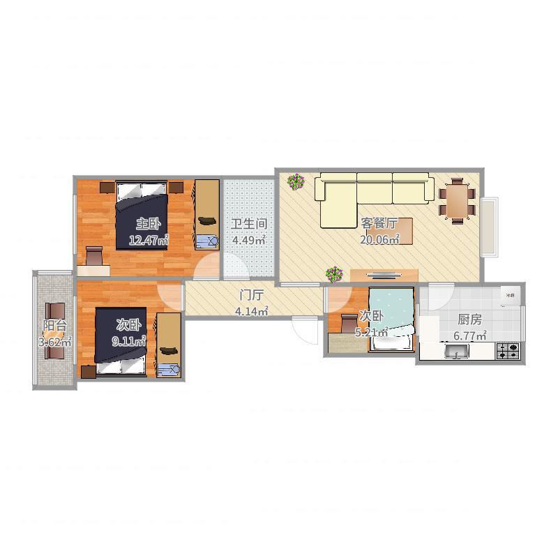 梧桐新区79号楼低层户型图