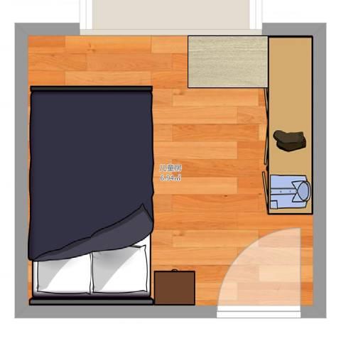 都市晴园1室0厅0卫0厨9.00㎡户型图