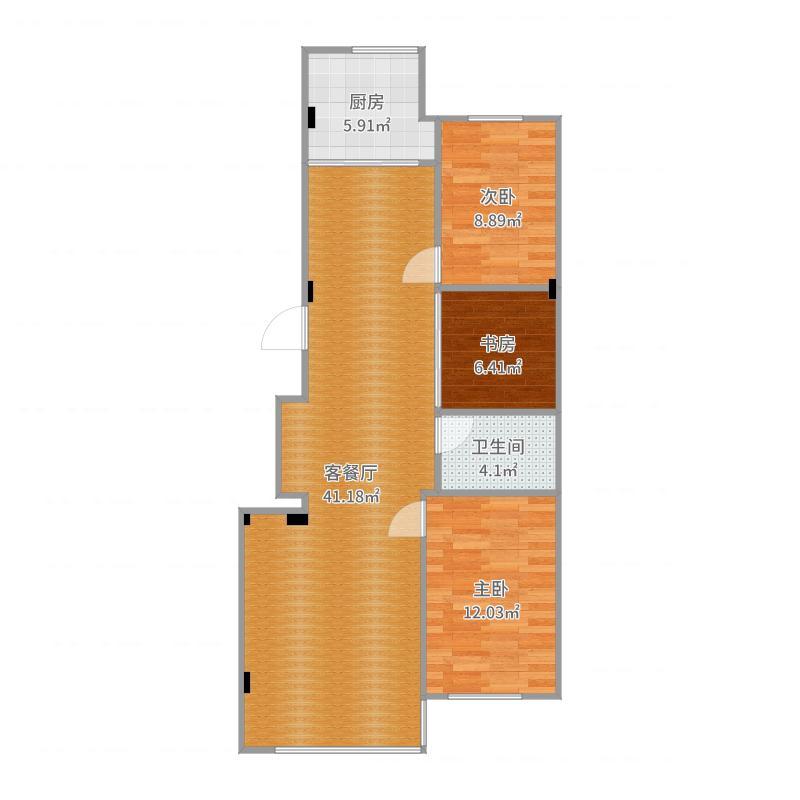 盘龙3号楼2单元801户型图