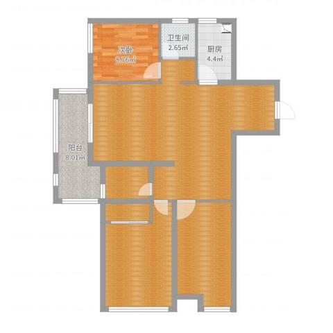 金域华府1室0厅1卫1厨116.00㎡户型图