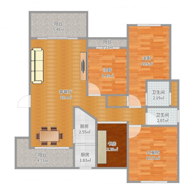 骏逸蓝山2楼—周重光户型图