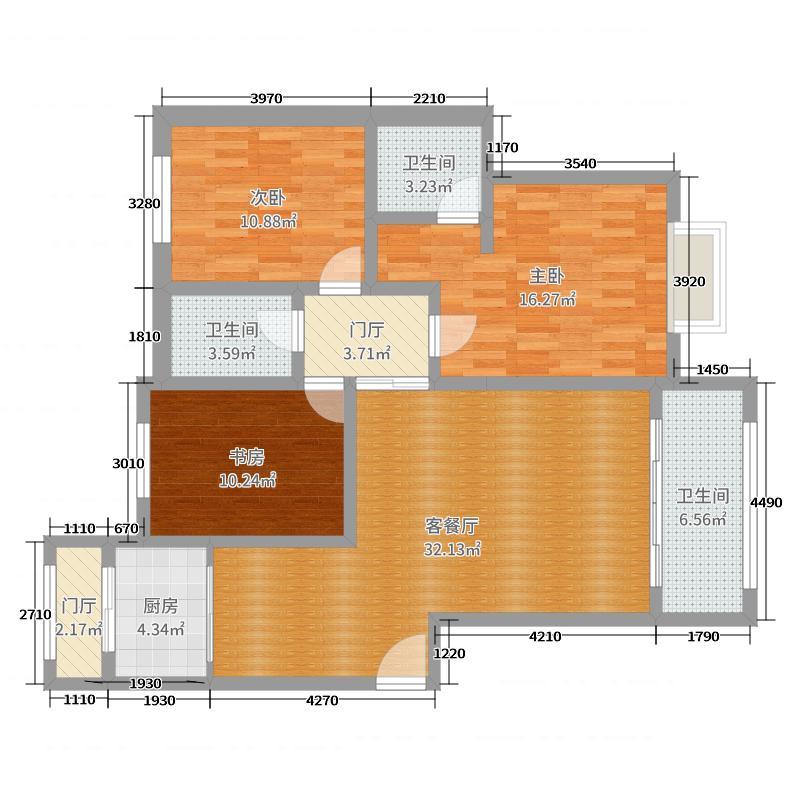 水城复式二层户型图