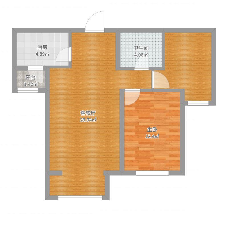 冠华苑3-B户型户型图