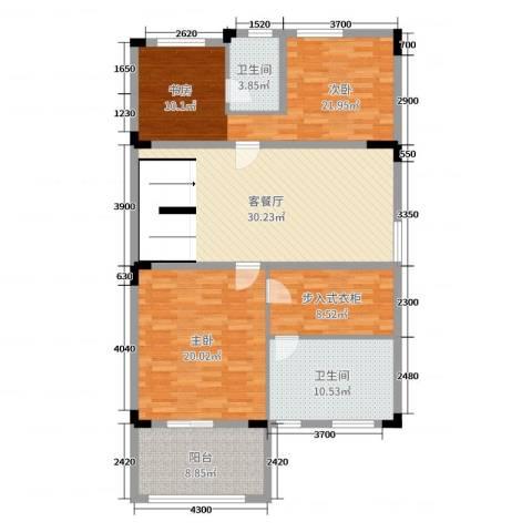 唐宁府2室2厅2卫0厨519.00㎡户型图