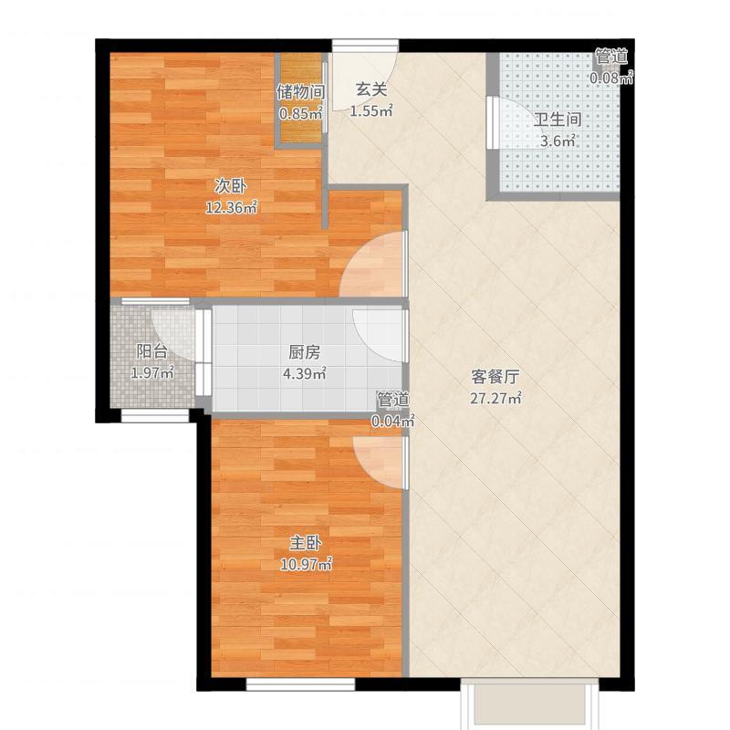 东洲家园-储藏室改小户型图