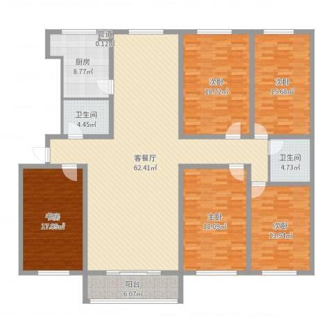 景苑花园5室2厅2卫1厨213.00㎡户型图