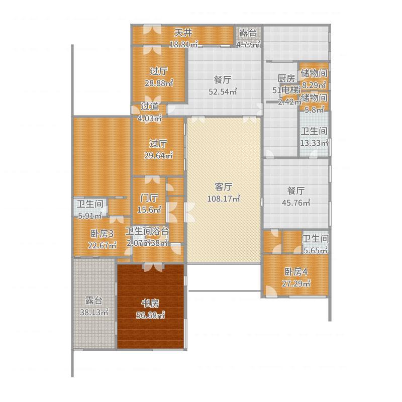 清山湖卧房3装修设计方案户型图