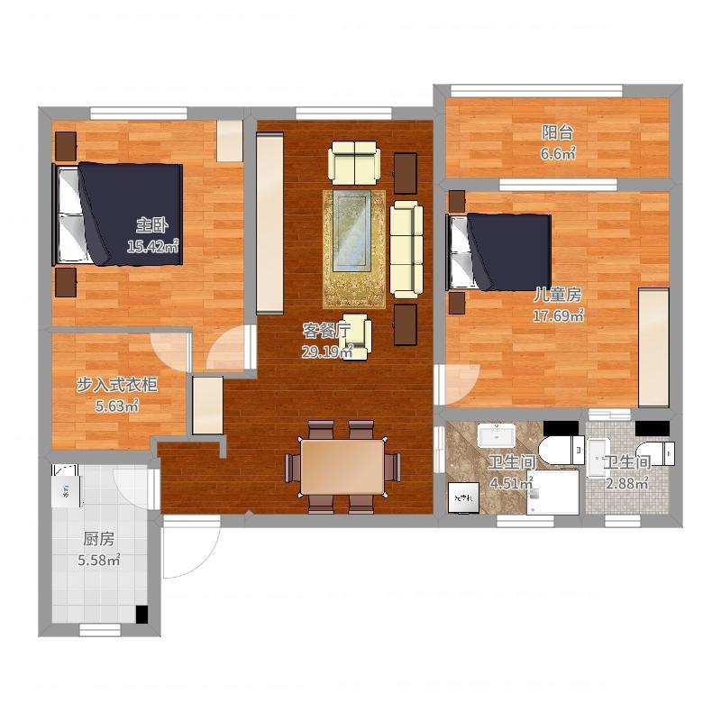 和平公寓525户型图
