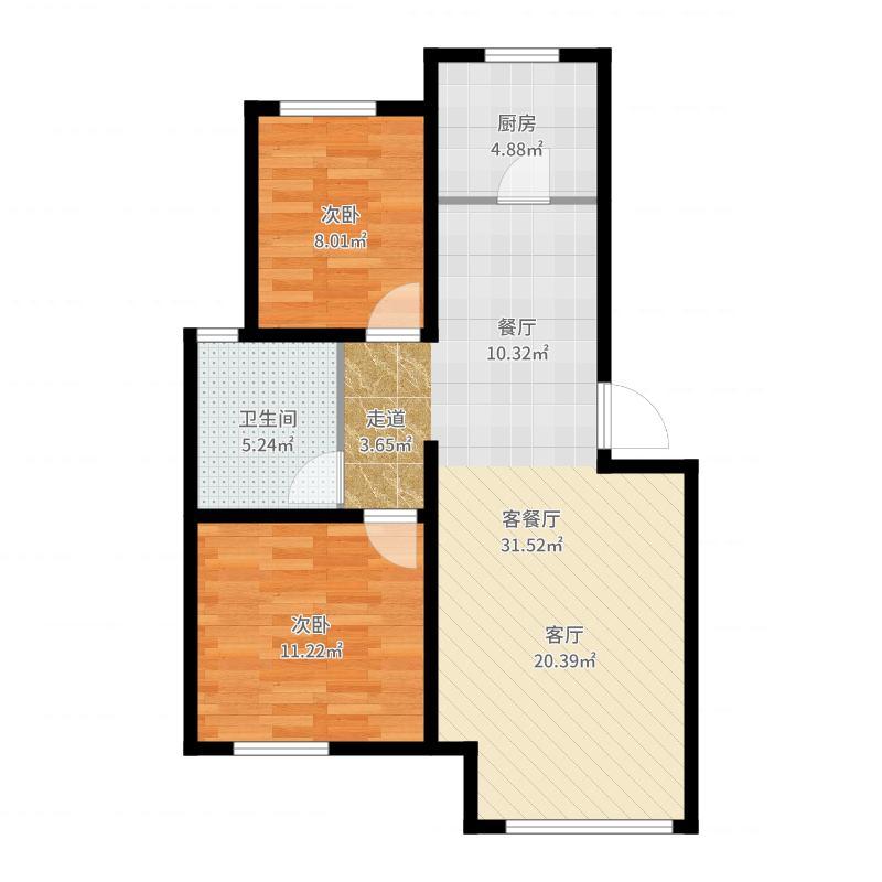 北京_绿城・百合公寓_2017-05-24-0956户型图