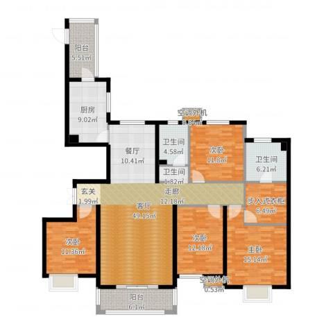 河北国际商会广场4室1厅2卫1厨173.00㎡户型图