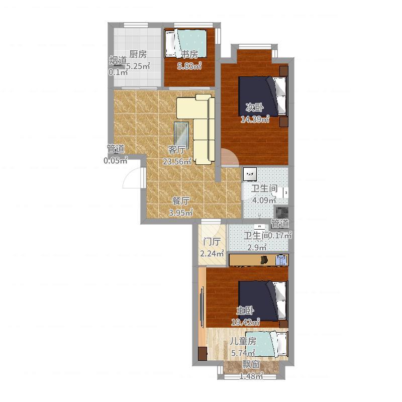 逸成东苑3室-2厅-2卫-副本-副本户型图