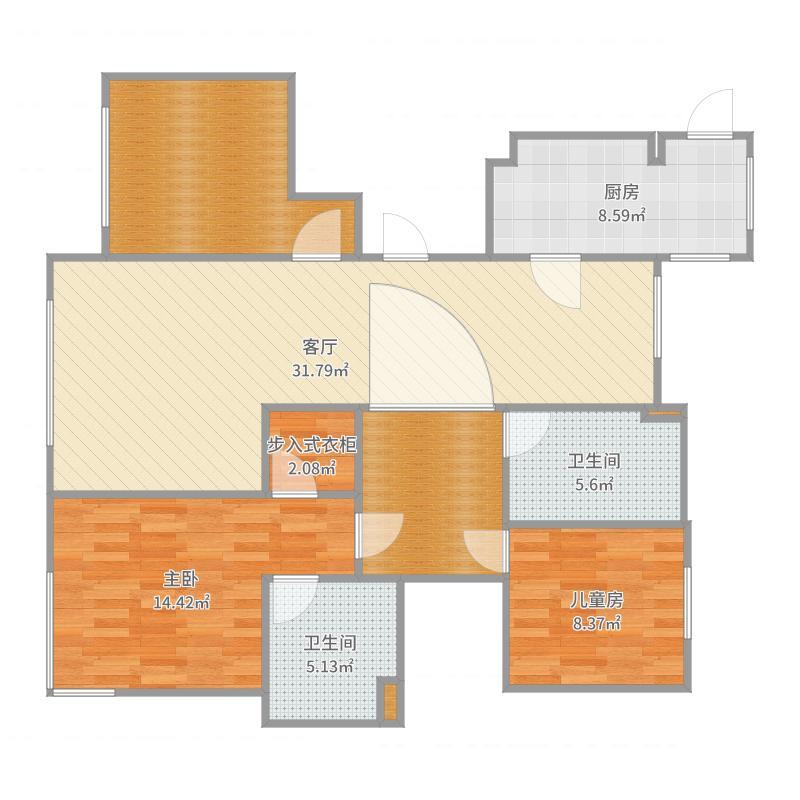 威廉公馆3-1-1301司季红户型图