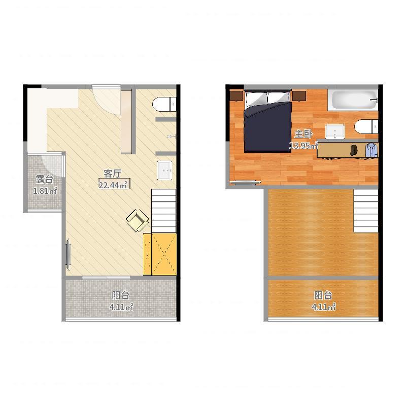 V8区8号房户型图