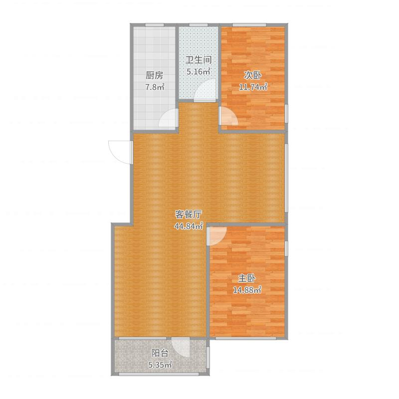 万嘉·国际生活广场122㎡-副本户型图