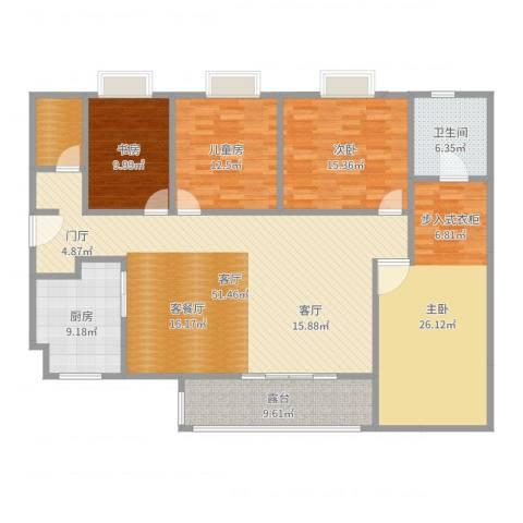 黄江江海城私宅4室1厅1卫1厨180.00㎡户型图