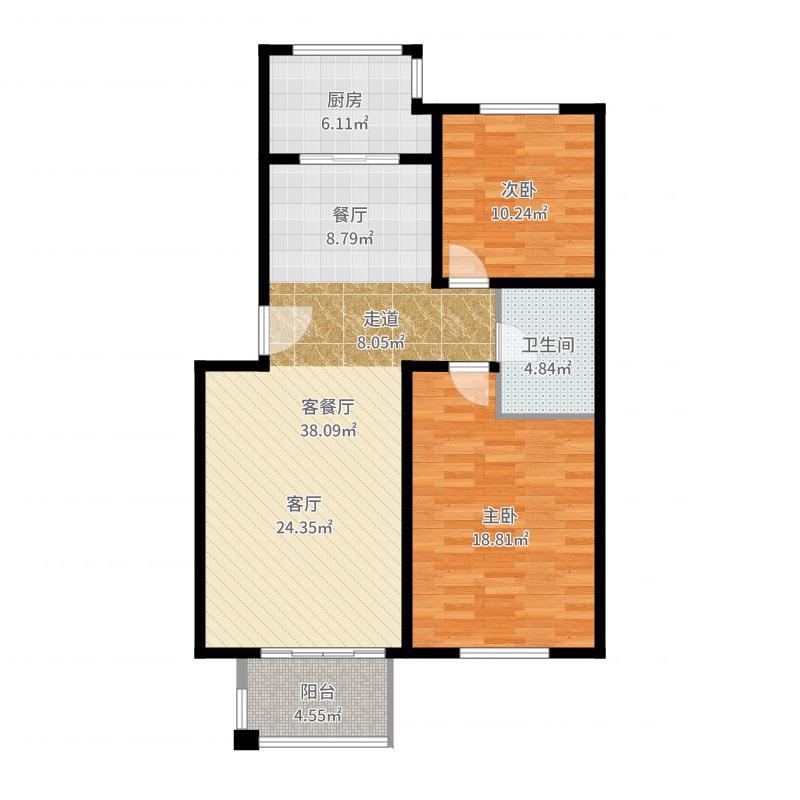 绿城・百合公寓户型图