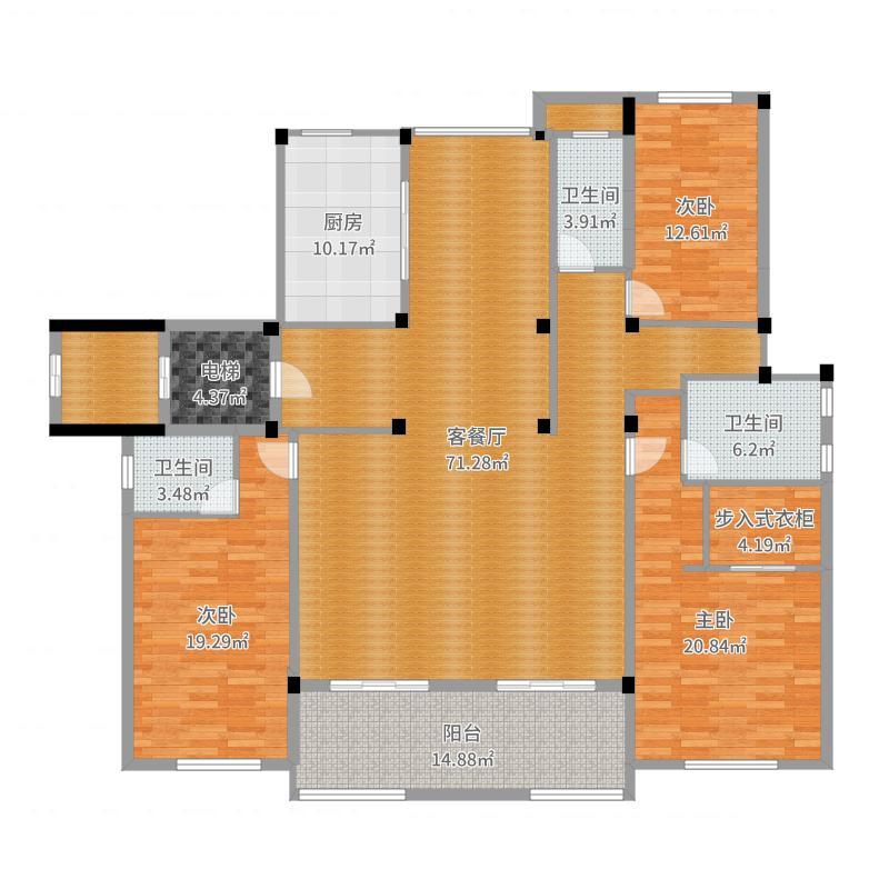 龙湖・九墅-6602沙发户型图