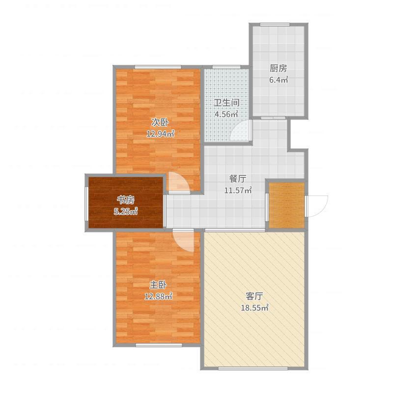 2号楼3层04户型户型图