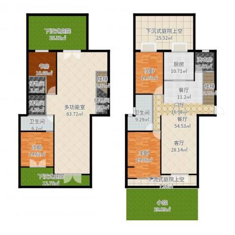 颐和观海4室1厅2卫1厨367.00㎡户型图