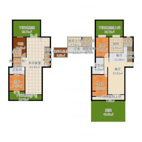 颐和观海4室1厅2卫1厨403.00㎡户型图