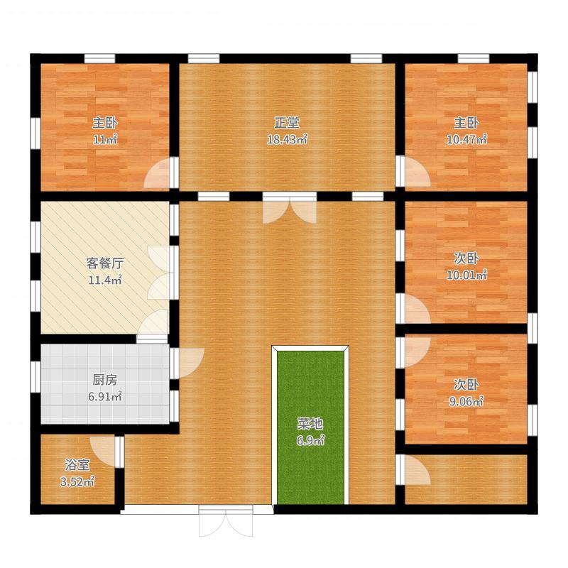 新北京四合院户型图
