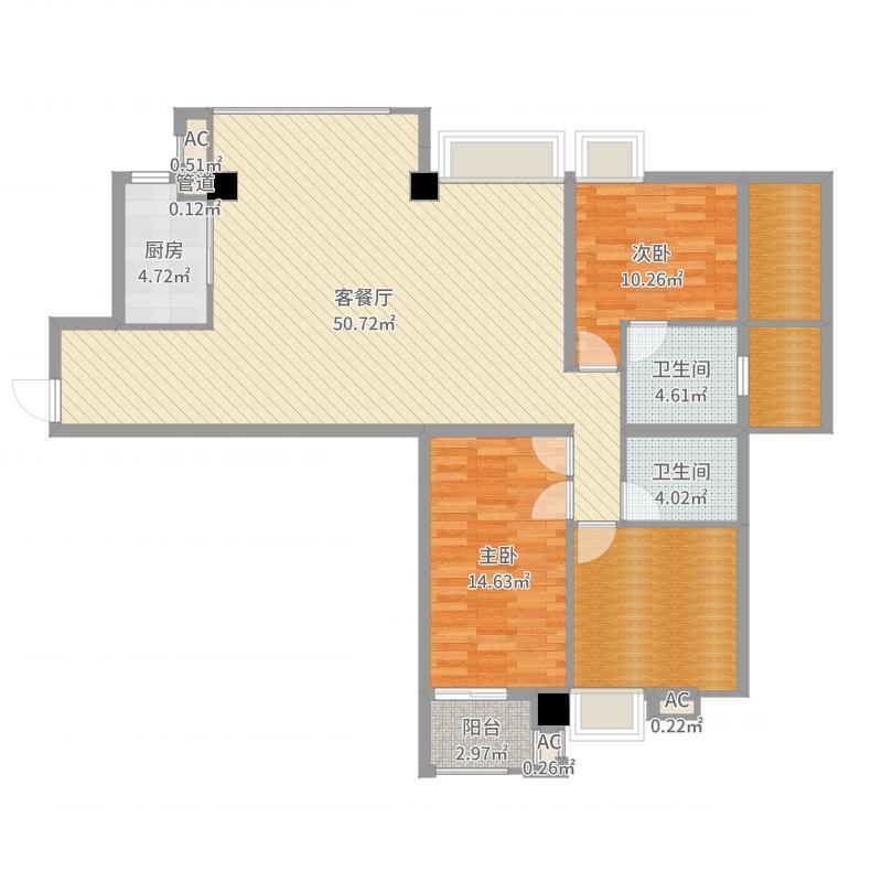 福建漳州南靖紫荆花园户型图