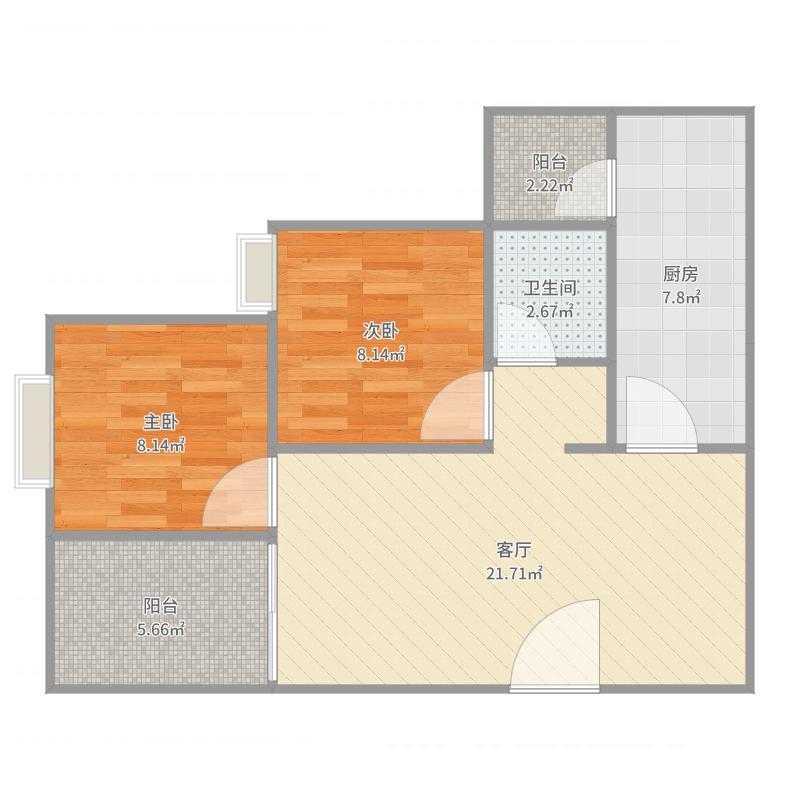 保利二栋5号房户型图户型图