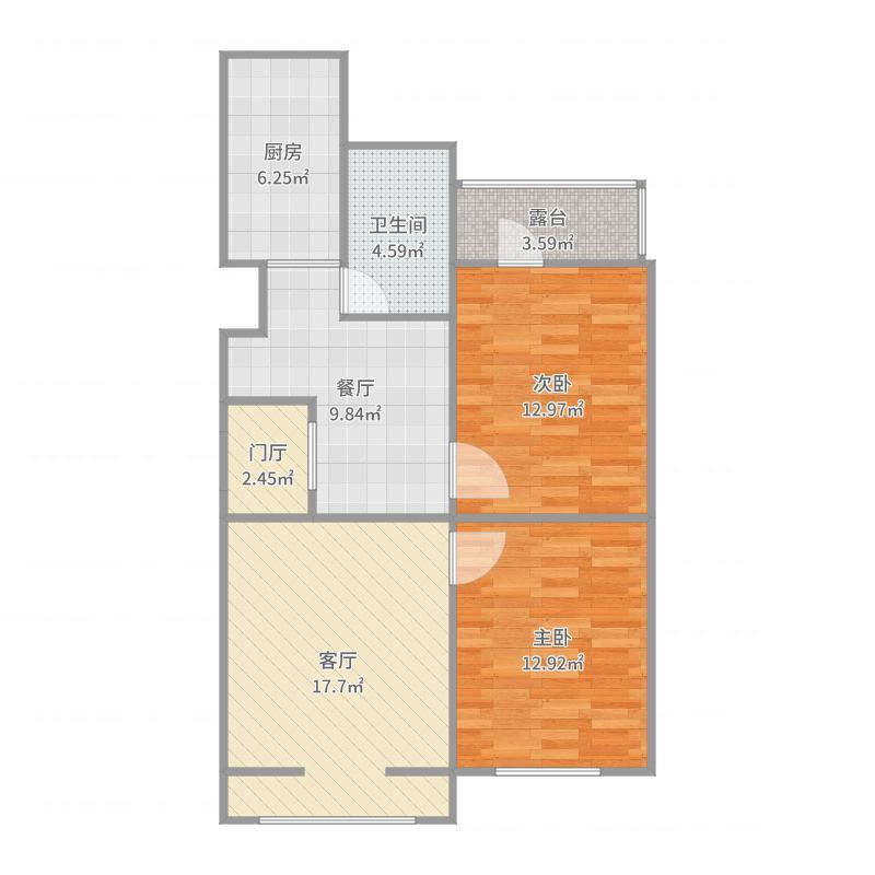 2号楼3层01户型户型图