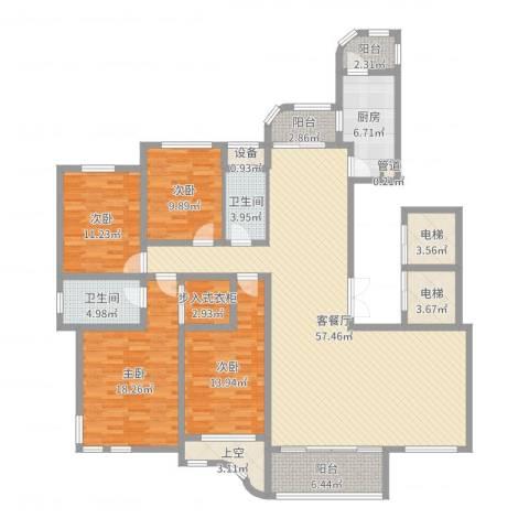 文峰城市广场4室2厅2卫1厨191.00㎡户型图