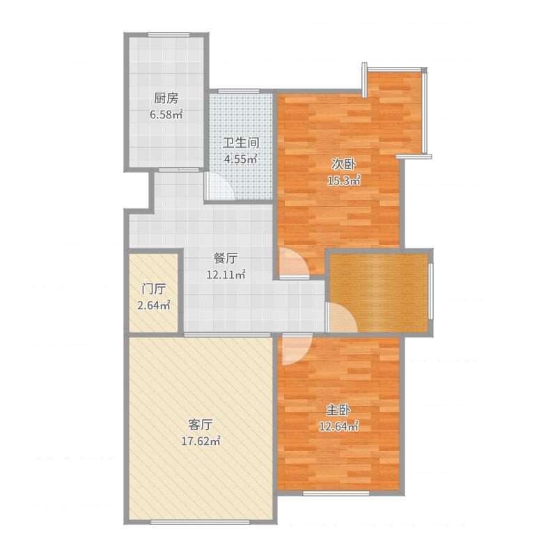 3号楼4-12层01户型户型图