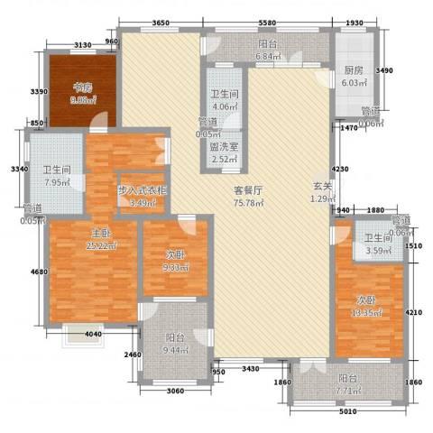 湖畔丽景4室2厅3卫1厨231.00㎡户型图